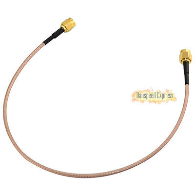 30cm 12inch SMA Male to Male Plug RF Coaxial Pigtail Extension Cable Lead RG316