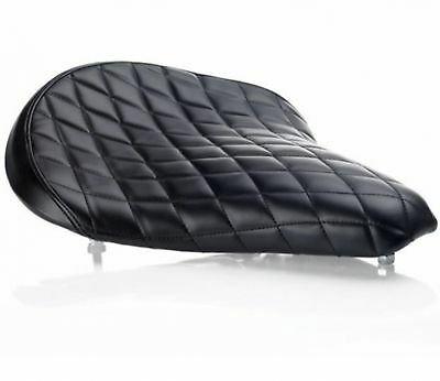 Selle Biltwell Black Diamond pour Harley Bobber