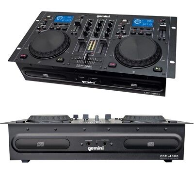 GEMINI CDM4000 mixer per dj live + cd player table top caricamento a slot NUOVO