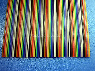 15ft 64 Way Flat Color Rainbow Multicolor Ribbon Cable Wire 28 AWG