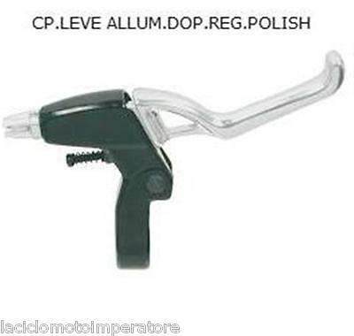 Coppia Leve Freno Mtb Bmx Grip-Shift Logan Silver Bike
