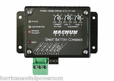 Magnum ME SBC   Smart Battery Combiner/25A Combines 2 Battery Banks for Charging