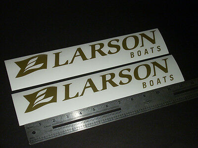 "Larson Boats Gold Decal 12"" Stickers (Pair)"
