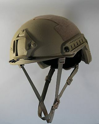 LVL IIIA Ballistic Tan Helmet made with KEVLAR - Arma-Core - fast shipping!