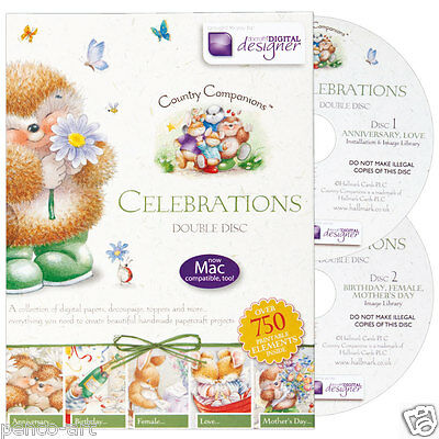Papermania country companions celebrations double disc CD rom
