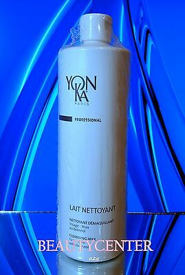YonKa Lait Nettoyant Cleansing Milk & Eye Makeup Remover Prof 16.9 oz 500 ml,New