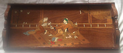 Stunning Persian Marquetry Tray Inlaid w/ Coloured Woods