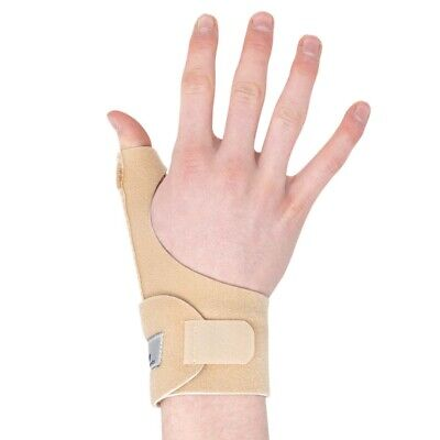 Blue Neoprene Medical Thumb Spica Wrist Support Splint Brace Hand Strain Sprain
