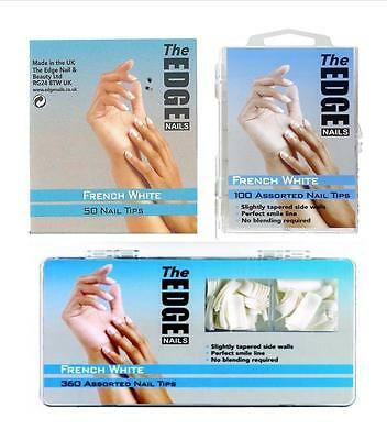 The Edge French White Nail Tips (Refills Of 50, 100 Or 360)