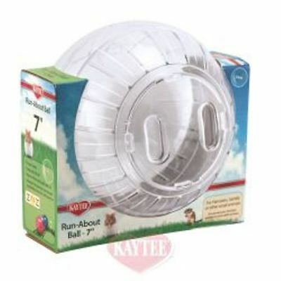"Super Pet Kaytee Clear Hamster Gerbil Exercise Ball 7"" Superpet"