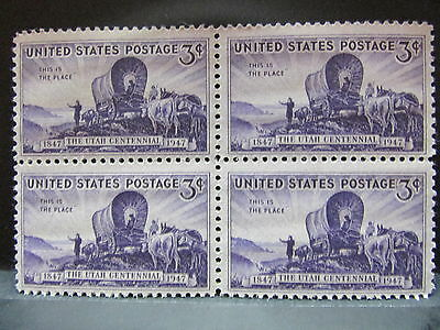 Utah Statehood Centennial - 1847 to 1947 - Original Mint Block of 4 Stamps