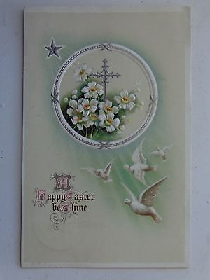 Antique postcard A Happy Easter be Thine embossed