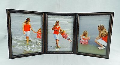 4x5 4x6 5x7 8x10 Wood Picture Photo Frame Triple Hinged Cherry