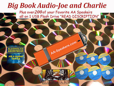 Big Book Audio-Joe and Charlie  and over 250  AA Speaker Tapes/Cd's