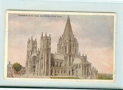 16126/ alte AK, USA, Cathedral of St. John, The Divini 1927 New York