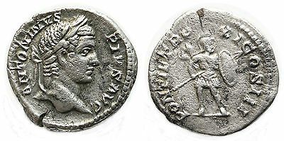 CARACALLA (196-217) denier, 208 Rome