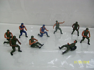 Vintage Mattel Heroes in Action LOT of army and SWAT figures
