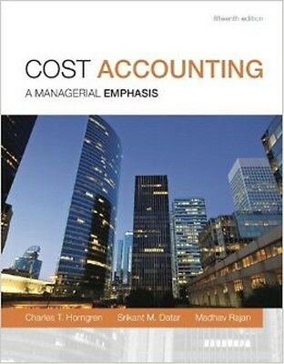 Cost Accounting: A Managerial Emphasis 15th edition (PDF) (eBook)