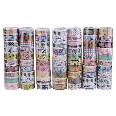 New 10 Rolls Lovely Kawaii Cartoon Deco Tape Scrapbooking Adhesive Paper Sticker