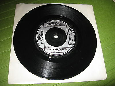 "45 Giri 7"" Rainbow Can' T Happen Here / Jealous Lover Germany Press"