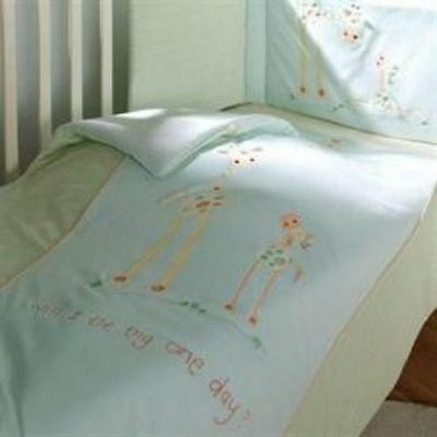 Lollipop Lane Will I Be Big One Day Aqua Teal Cot Cotbed Quilt 100x120cm