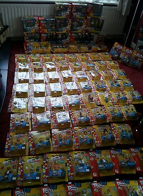 the simpsons giant playmates toy figures collection.