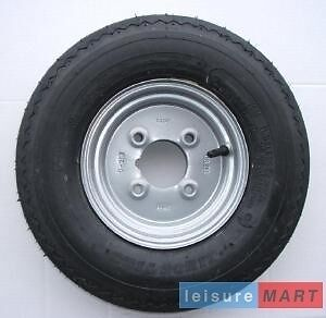 """400x8 inch 4.00x8 inch trailer wheel with 4 ply high speed tyre 4"""" pcd (LMX263)"""