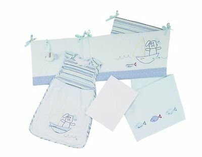 Baby Boy Fish & Chips New Born Bedding Bale Cot Bumper Sleeping Bag Fitted Sheet