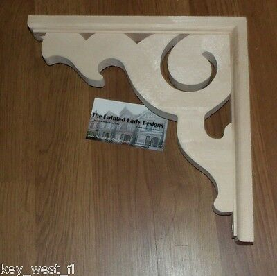 "Victorian Wood Gingerbread {10"" x 10""}  Porch & House Trim Bracket #6 ~ by PLD"