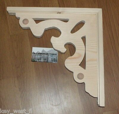 "Victorian Wood Gingerbread {13"" x 13""} Porch & House Trim Bracket #7 ~ by PLD"