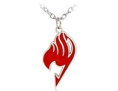 """""""Fairy Tail"""" Anime Pendant Necklace (Red)"""