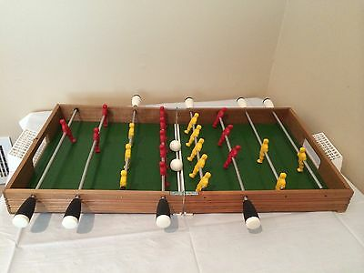 Solid Wood Table Top Soccer / Foosball Game Folds Like Suitcase for Easy Storage
