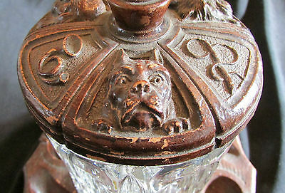 Unique Antique Pipe Holder and Humidor with Dog Designs