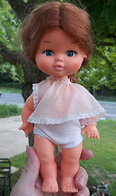 CHILD GIRL DOLL 1960s - 70s-  Made in HONG KONG/REDHEAD 9""