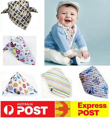 NEW Bibs Bandana Towel Girls Dribble Saliva Kids Cotton Feeding Triangle Scarf