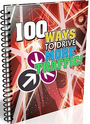 100 Ways to Drive More Traffic PDF eBook Free Shipping Resell Right Make Money