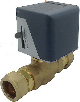 Procus Motorised Valve Normally Closed with 28mm Compression Fitting