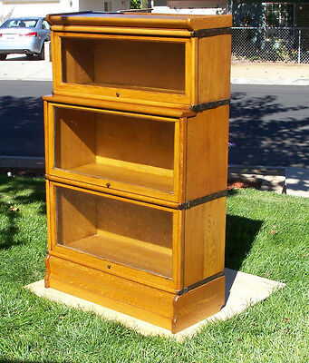 "Rare- deep ""E""  Stepback to""D"" Oak Lawyer Bookcase  Lancaster Ca  shipping is OK"