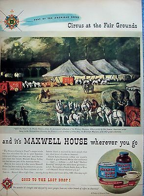 1946 Maxwell House Coffee Circus At The Fair Grounds After The Show Waldo Peirce