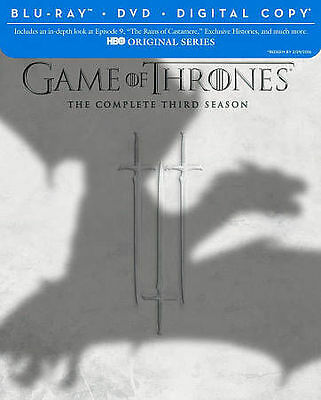 Game of Thrones:The Complete Season 3(Blu-ray/DVD Combo+Digital Copy 7-disc) New