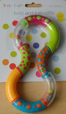 Rattles twist and turn rattle baby rattle teether 6 Months+ Textured Easy Grip