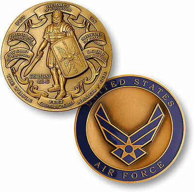 U.S. Air Force / Armor of God - USAF High Relief Bronze Challenge Coin