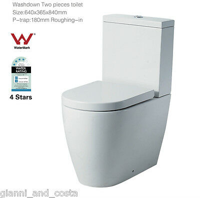 TOILET SUITE CERAMIC BACK TO WALL  SOFT CLOSE PP SEAT - P OR S TRAP Model Korona
