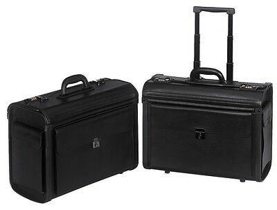 Catalog leatherette Pilot Case Travel Luggage Rolling Wheeled Business Briefcase