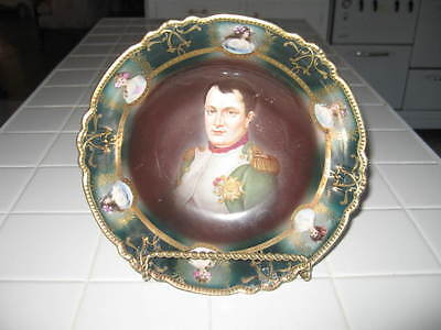 Rare Beautiful Antique Vintage Hand painted Napoleon Bowl 1924 # 28 of 598