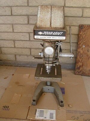 """Vintage POWR KRAFT, made by Delta, 32"""" RADIAL ARM DRILL PRESS with stand"""