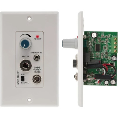 Pro2 Audio Amplifier Wall Plate for In-Ceiling or Outdoor Speakers