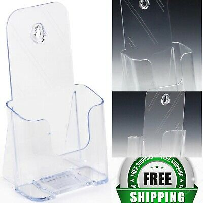 Flyer Holders Clear Molded Plastic Brochure Racks 60 Total Mounting Hole
