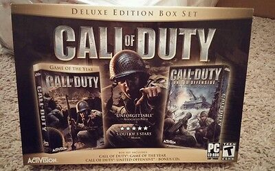 Call of Duty Deluxe  (PC, 2005) - Deluxe Edition Box Set - BRAND NEW!!