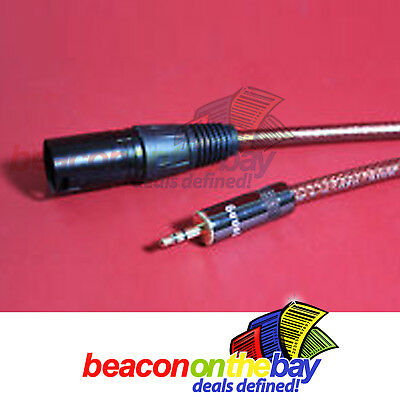 150cm Australian Made Mini Jack 3.5mm Stereo TRS to XLR Male Audio Link Cable